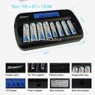 US/EU/UK/AU 8-bays LCD Smart Battery Charger For AA AAA NI-MH NI-CD Batteries