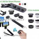 Phone Bluetooth Camera Control+Selfie Monopod Stick/Tripod+Lens for iPhone 8 7 6