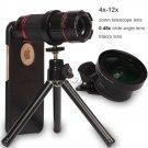 4x-12x Zoom Telescope SLR Camera Lens 0.45x Wide & Macro For iPhone 7 Plus 6s SE