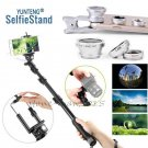 YUNTENG Wired Cable Selfie Stick Pole Monopod+Lens for iPhone 8 7 7 Plus 6s SE