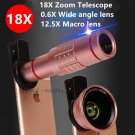 0.6x Wide Angle lens+ Macro+18x Telescope Camera Lens For Samsung Galaxy S8/S8+