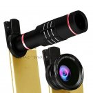 18x Telescope Camera Lens+0.6x Wide Angle lens+Macro For iPhone 8 Plus 8 X 7 6s