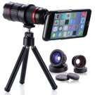 4-12x Zoom Telescope SLR Camere Lens Fish Eye Wide Macro For iPhone 7 Plus 6s SE