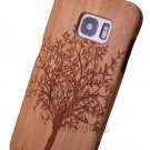 Genuine Tree Carved Bamboo Wood Case Cover For Samsung Galaxy S8 Plus/S7/S7 Edge