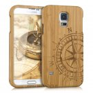 Authentic Compass Wood Bamboo Case Cover for Samsung Galaxy S5 Neo/S5 S7 Edge