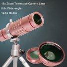 0.6x Wide Angle lens+Macro+18x Telescope Camera Lens For iPhone 8/7 Plus/6s/SE