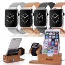 3in1 USB Charging Dock Station Holder+Alloy Loop Band For Apple Watch iPhone 8 7