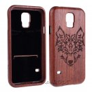 Wolf Natural Wood Bamboo Hard Case Back Cover+Film for Samsung Galaxy Note 8 S8