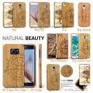 Compass Carved Natural Wood Bamboo case Back Cover for Samsung Galaxy S6 S7 Edge