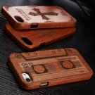For Apple iPhone 7 & 7 Plus Natural Wood Bamboo Engraved Phone Case Cover+Film