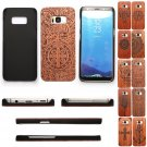 Natural Wood Bamboo Cover + PC Hard Case+Film For Samsung Galaxy S8 / S8 Plus