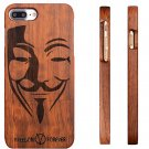 Natural Bamboo Cover Rosewood Back Phone Case+Film for iPhone 7 Plus