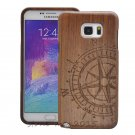 Compass Walnut  Wood Case Cover+Film For Samsung S7 Edge/S8/S6/S5/S4/Note 5/4/3