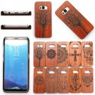 Luxury Wood Bamboo Case + PC Hard Shell Back Cover For Samsung Galaxy S8 / S8+