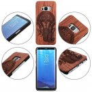 For Samsung Galaxy S8 / S8 Plus Natural Wood Bamboo PC Protect Phone Case Cover