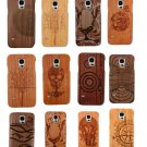 Natural Bamboo Wood Wooden Hard Case Back Cover For Samsung Galaxy S5 S6