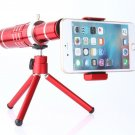 Red 18X Zoom Telescope Camera Lens+Holder For Samsung Galaxy S8/S8+ Plus Note 8