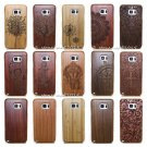 Original Carved Wood Bamboo Hard Case Back Cover For Samsung S8 Plus S7 S6 Edge