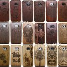 Original Wood Bamboo Hard Case Back Cover for Samsung Galaxy Note 5 S6 Edge S8