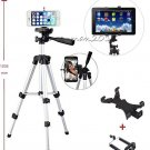 Camera Tripod Stand Mount+Universal Tablet Holder for i Pad 2 3 4/Mini/Air/Air 2