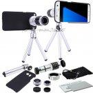4in1 12x Zoom Telescope Camera Lens+Fisheye Macro Wide For Samsung S8 S7 Edge