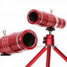Red 18X Zoom Telescope Camera Lens+Phone Holder For iPhone 7 7 Plus/6s/6 Plus/SE