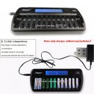 US/UK/EU/AU Plug 12-Slot 12-Bay DC1212 Fast LCD Battery Charger AA AAA NiMH NiCd