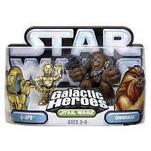 Star Wars Galactic Heroes 2-Pack Figures: Chewbacca and C-3P0