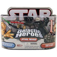 Star Wars Galactic Heroes 2-Pack Figures: Luke Skywalker Darth Vader