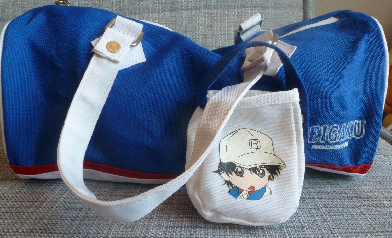 Prince of Tennis Bag Tote Blue White Echizen Takeshi Konomi Tenisu no Ojisama