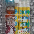 Ayashi no Ceres Markers and Stamp Set Celestial Legend Watase Yuu Blue Red Organge Shoujo