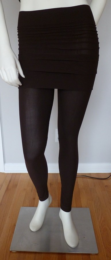 Brown Legging Skirt Tummy Slimming Spandex Stretch Tight One Size Fits All