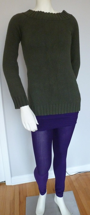 Purple Legging Skirt Tummy Slimming Spandex Stretchy Tight One Size Fits All