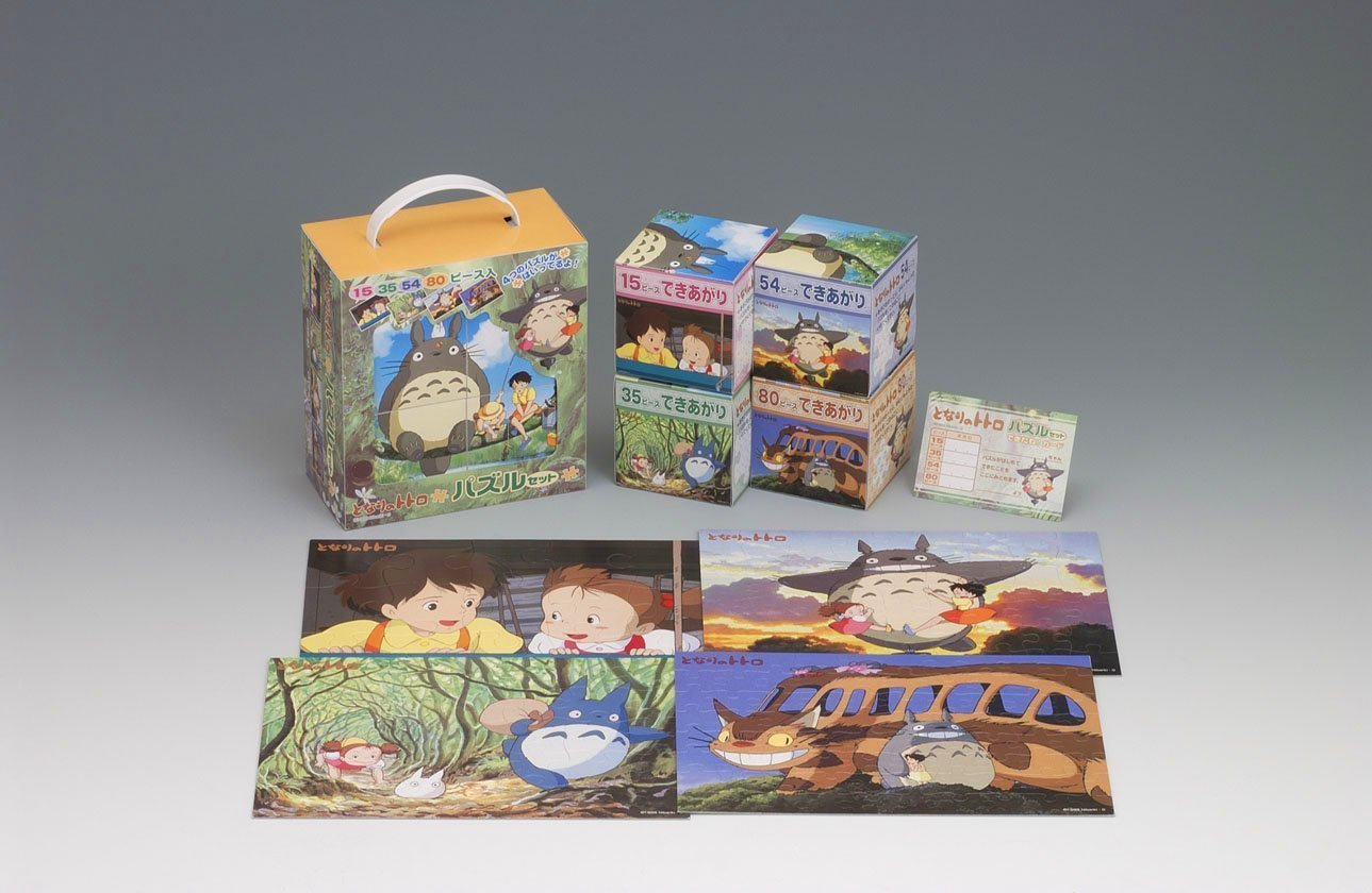 My Neighbor Totoro 4 Puzzle Set Ps-08 Studio Ghibli Hayao Miyazaki ArtBox Made in Japan