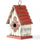 "Glitzhome 8.94""H Hanging Garden Distressed Wooden Garden Birdhouse, Gambrel Roof"