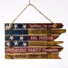 Free Shipping! Glitzhome Rustic Wooden Patriotic American Flag Word Sign