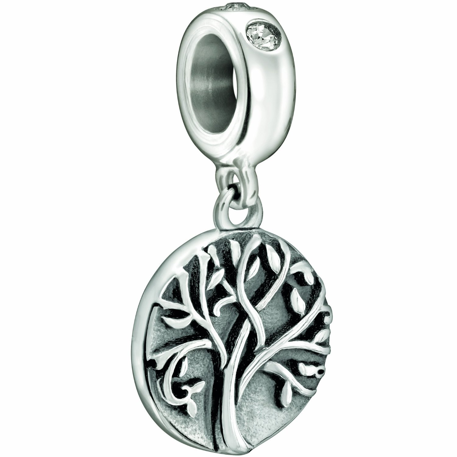 Sterling Silver Family Tree of Life Bead Charm Fits Pandora Bracelet Charms