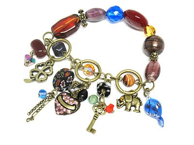 Multi COlor Charm Dangle Bracelet