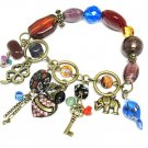 Multi COlor Charm Dangle Bracelet