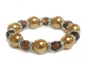 Genuine Crystal and Glass Bead Bracelet