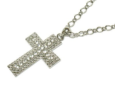 Beautiful Crystal Cross Necklace