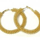 Beautiful Gold Mesh Earrings