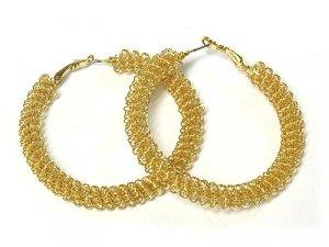 Beautiful Gold Mesh Earrings