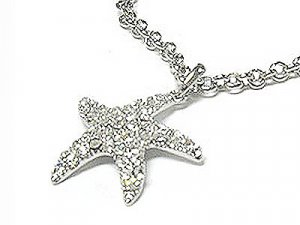 Beautiful Crystal Starfish Necklace