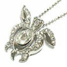 Gorgeous Crystal and Cubic Sea Turtle Necklace