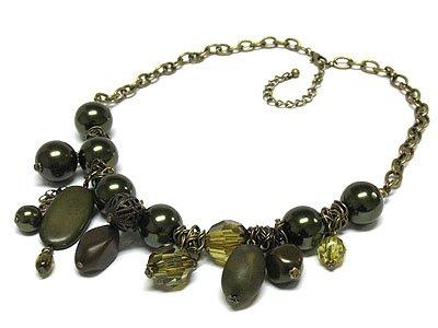 Acrylic Bead Chain Neclace