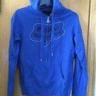 "Fox Racings - ""The River"" Foxy Zip Hoody - Blue - Size Small - NEW"