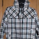 "Fox Racing ""Fox Plaid"" Insulated Jacket - White/Black/Blue  L - NEW"