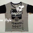 UNIQLO WOMEN SPRZ NY Andy Warhol Campbell Soup Print Short Sleeve T-Shirt Gray L(Japan)