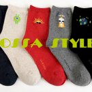 5PAIRS(5colors)=1PACK COSMOS ALIEN WOMAN COTTON GOOD SOCKS MADE IN KOREA